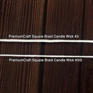 PremiumCraft Square Braid Cotton Candle Wick #3