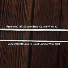 Load image into Gallery viewer, PremiumCraft Square Braid Cotton Candle Wick #3/0