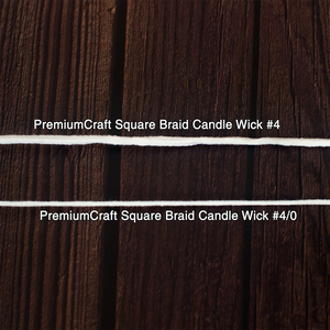 PremiumCraft Square Braid Cotton Candle Wick #4