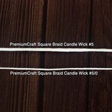 Load image into Gallery viewer, PremiumCraft Square Braid Cotton Candle Wick #5/0