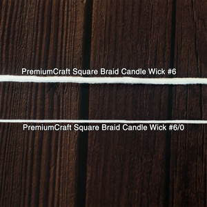 PremiumCraft Square Braid Cotton Candle Wick #6