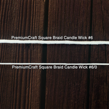 Load image into Gallery viewer, PremiumCraft Square Braid Cotton Candle Wick #6/0