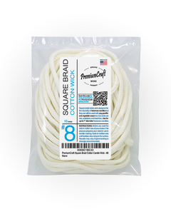 PremiumCraft Square Braid Cotton Candle Wick #8