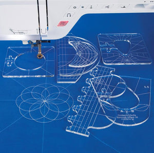 Ezzential™ Quilting Template Set (6 Pcs Set)