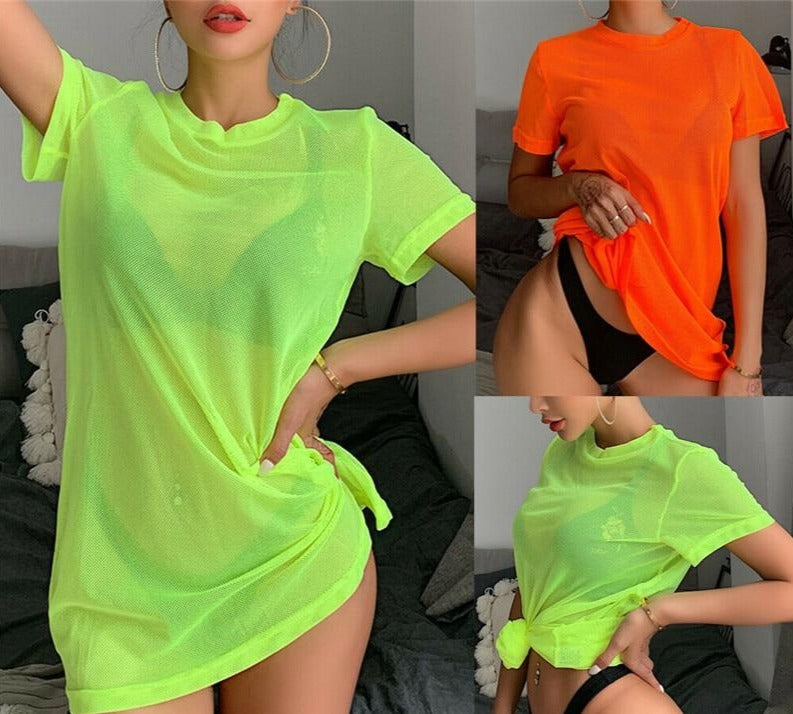 DAKOTA™ Sexy Neon Sheer Top