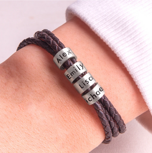 GIFTER™ Personalized Genuine Leather Bracelet