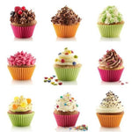 Ezzential™ 12Pcs Cupcake Silicon Baking Molds