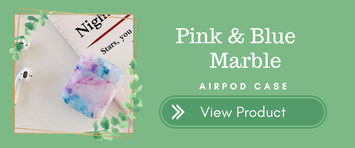 Pink & Blue Marble AirPods Case