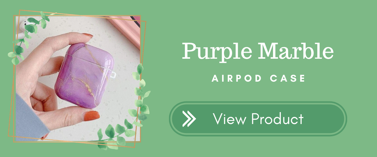 Purple Marble AirPods Case