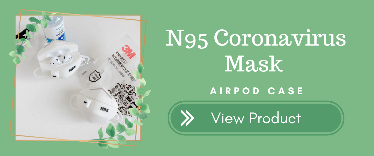 N95 Coronavirus Mask AirPods Case