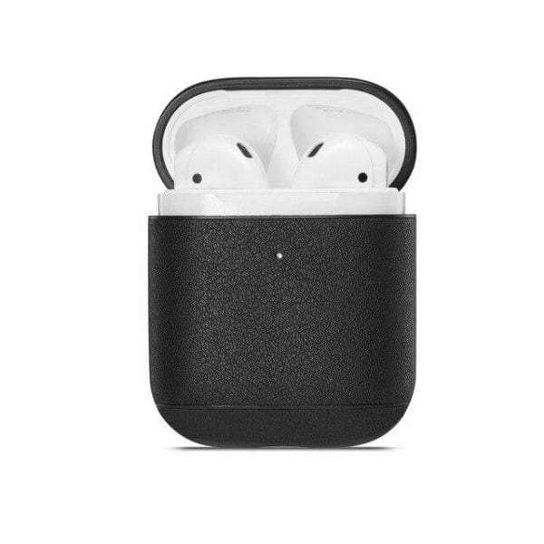 Black Leather <br> Airpod Case