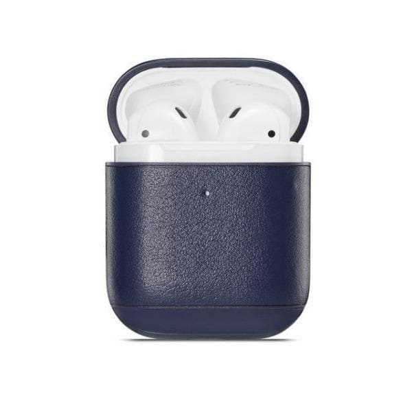 Blue Leather <br> Airpod Case