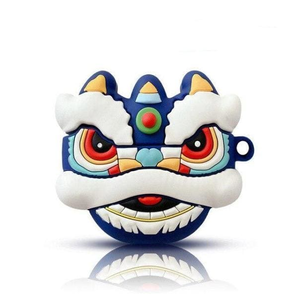 chinese-airpod-case-3D-1-2-Red-and-blue-dragon