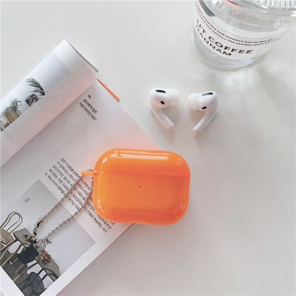Clear Orange Airpod Pro Case