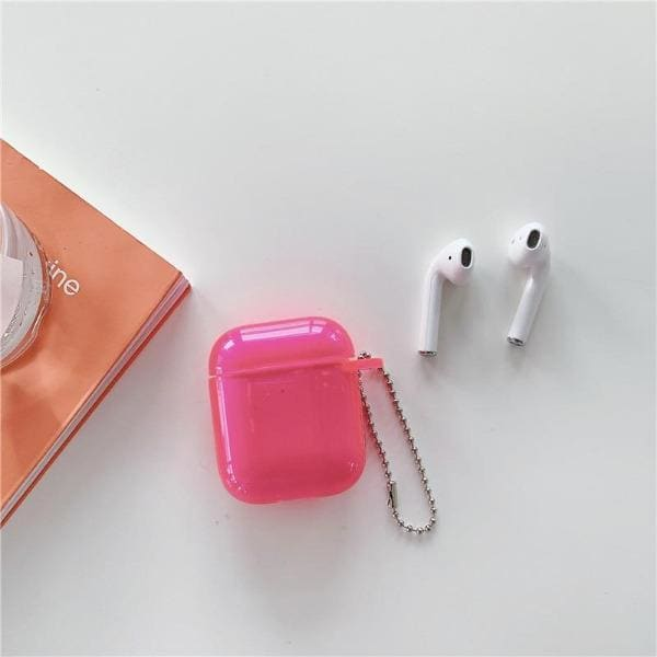 Clear Pink Airpod Case Rose Pink
