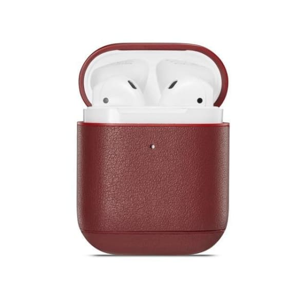 Red Leather <br> Airpod Case