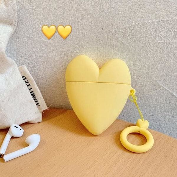 yellow-heart-airpod-case