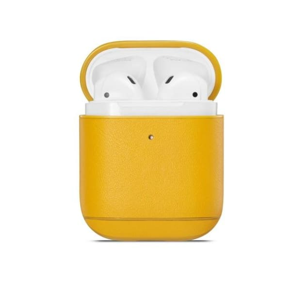 Yellow Leather <br> Airpod Case