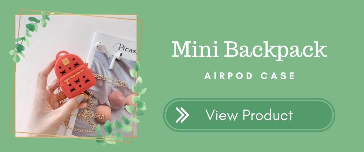 Mini Backpack AirPods Case