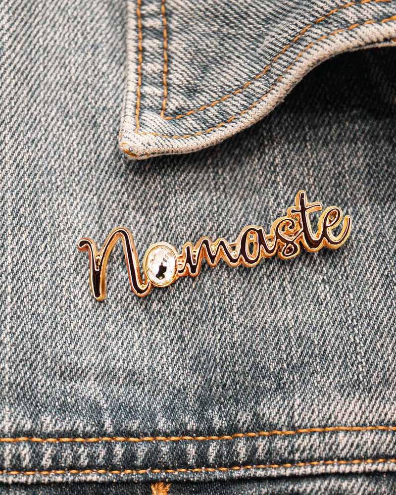 Broche Namaste or - Broches - froufrouz
