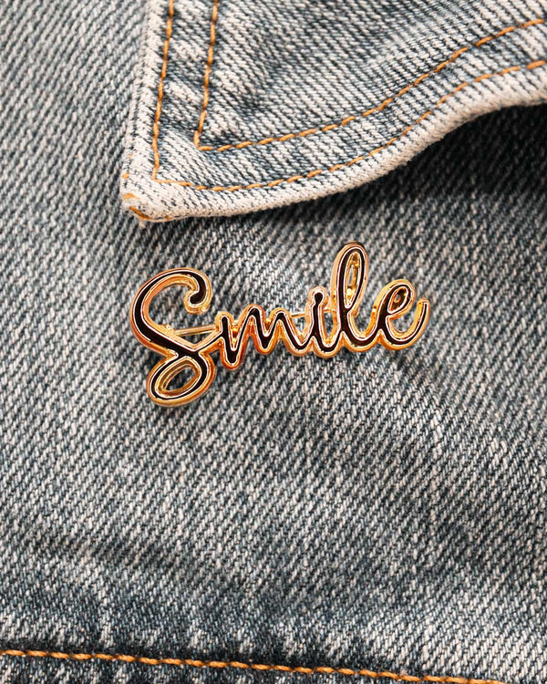 Broche Smile or - Broches - froufrouz