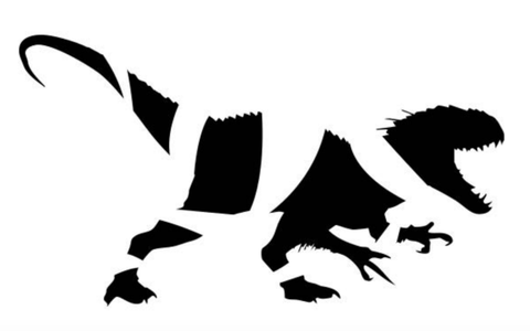 For your Jurassic Park fans, this fairly simple pumpkin carving template of an Indominus Rex is perfect.