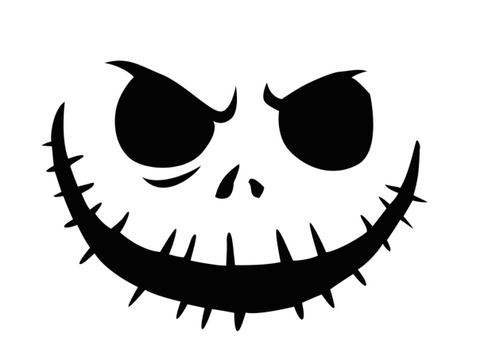 Introduce your littles to the classic Nightmare Before Christmas with this Jack Skellington pumpkin stencil.