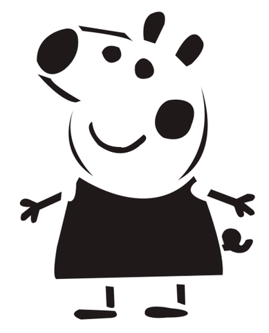 Everybody loves Peppa Pig, and she'll look fabulous on your front step this Halloween.