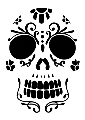 This crazy cool sugar skull carving can hang around for Day of the Dead, so it'll be worth the time you spend carving it out of your pumpkin!