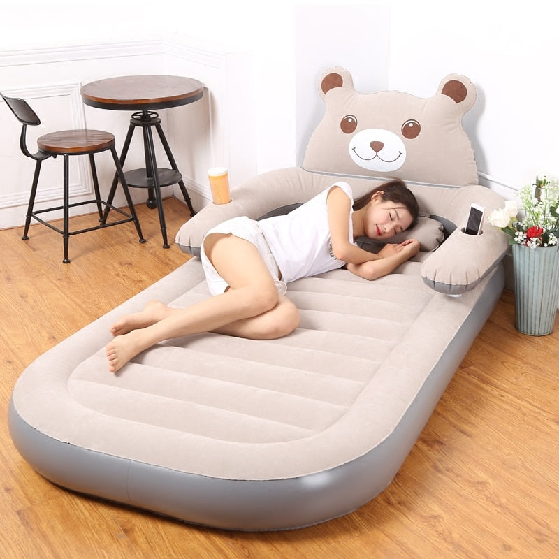 Air mattress thickened household folding double cartoon inflatable - The Brand Decò