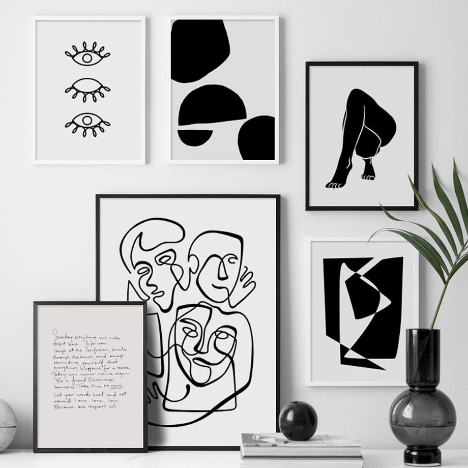 "Abstract Art ""Prints Minimalist Line Nordic Posters And Prints"" 