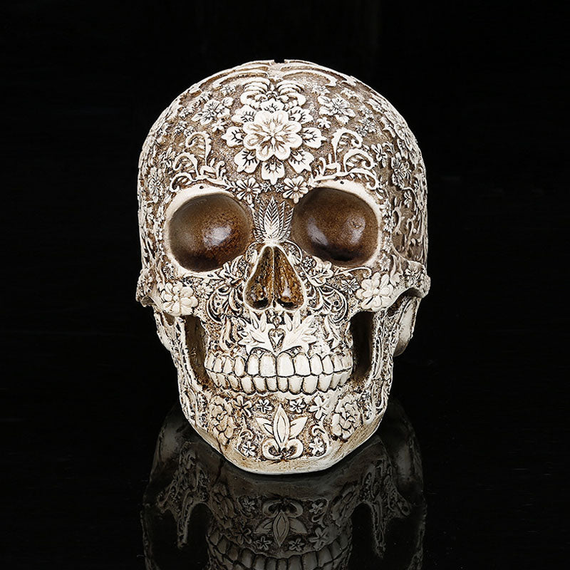 Home Decor Resin Skull | Mexican Celebration Dia de Muertos | The Brand Decò