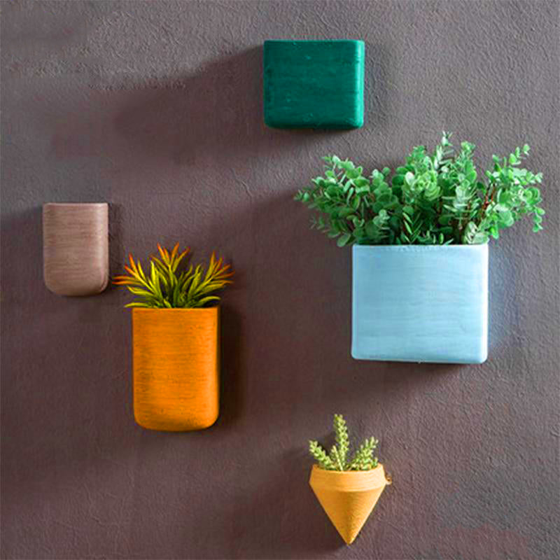 Creative Nostalgic Geometric Ceramic Flower Pot | The Brand Decò