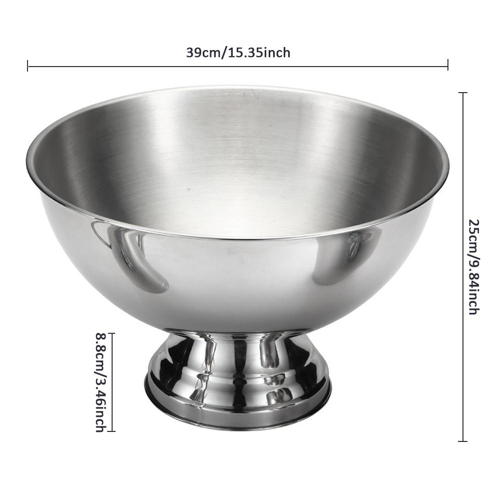 Stainless Steel Ice Bowl Metal Bar Beer Barrel Champagne Wine Big | The Brand Decò