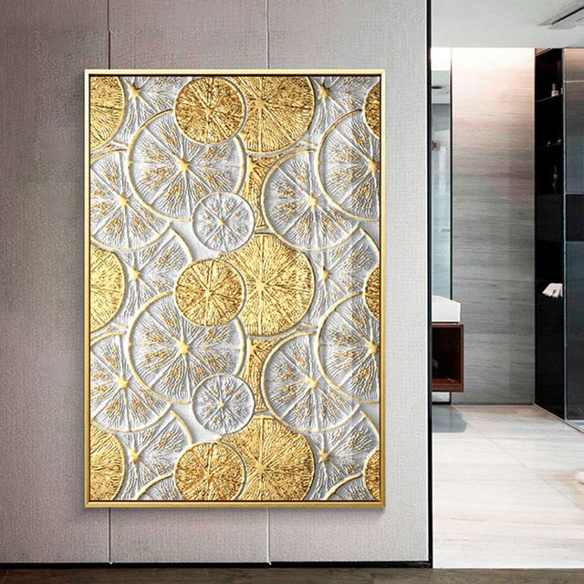 Black And Gold wall art Canvas | The Brand Decò