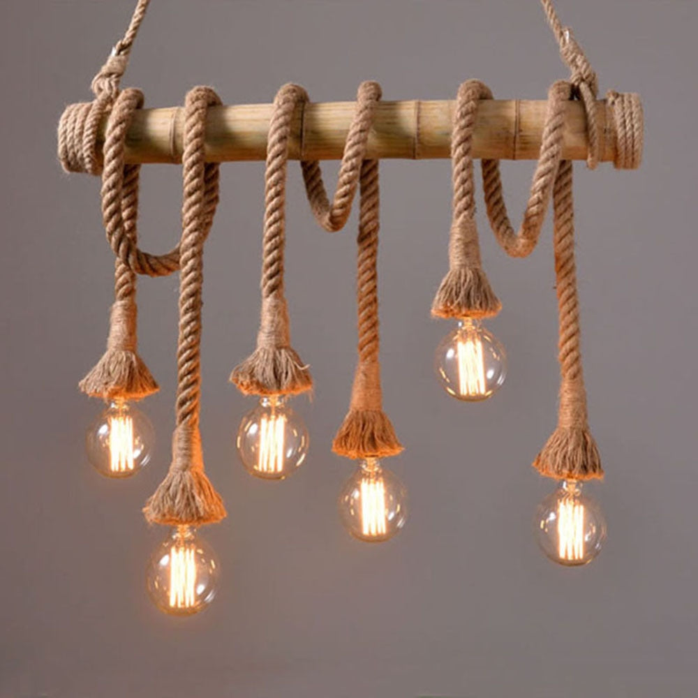Vintage Rope Pendant Light Lamp Loft Creative Personality Industrial | The Brand Decò