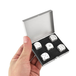 Dice with case Aluminum Whiskey Stones Rocks for Drinks | The Brand Decò