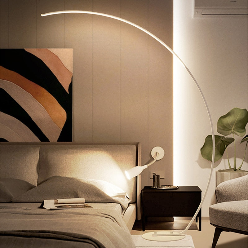 Curved Simple Floor LED Lamp | Moder Style | The Brand Decò