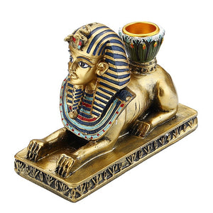 Resin Figurines Candleholder Retro Ancient Egyptian Goddess Sphinx Anubis | The Brand Decò