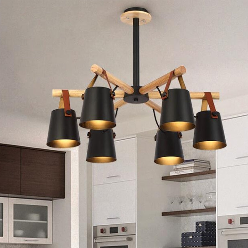 Nordic Iron & Solid Wood Chandelier | The Brand Decò