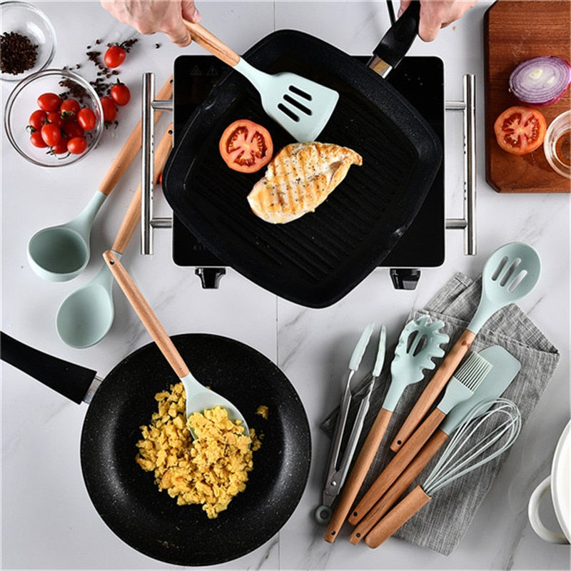 Light Blue Silicone Cooking Set | The Brand Decò
