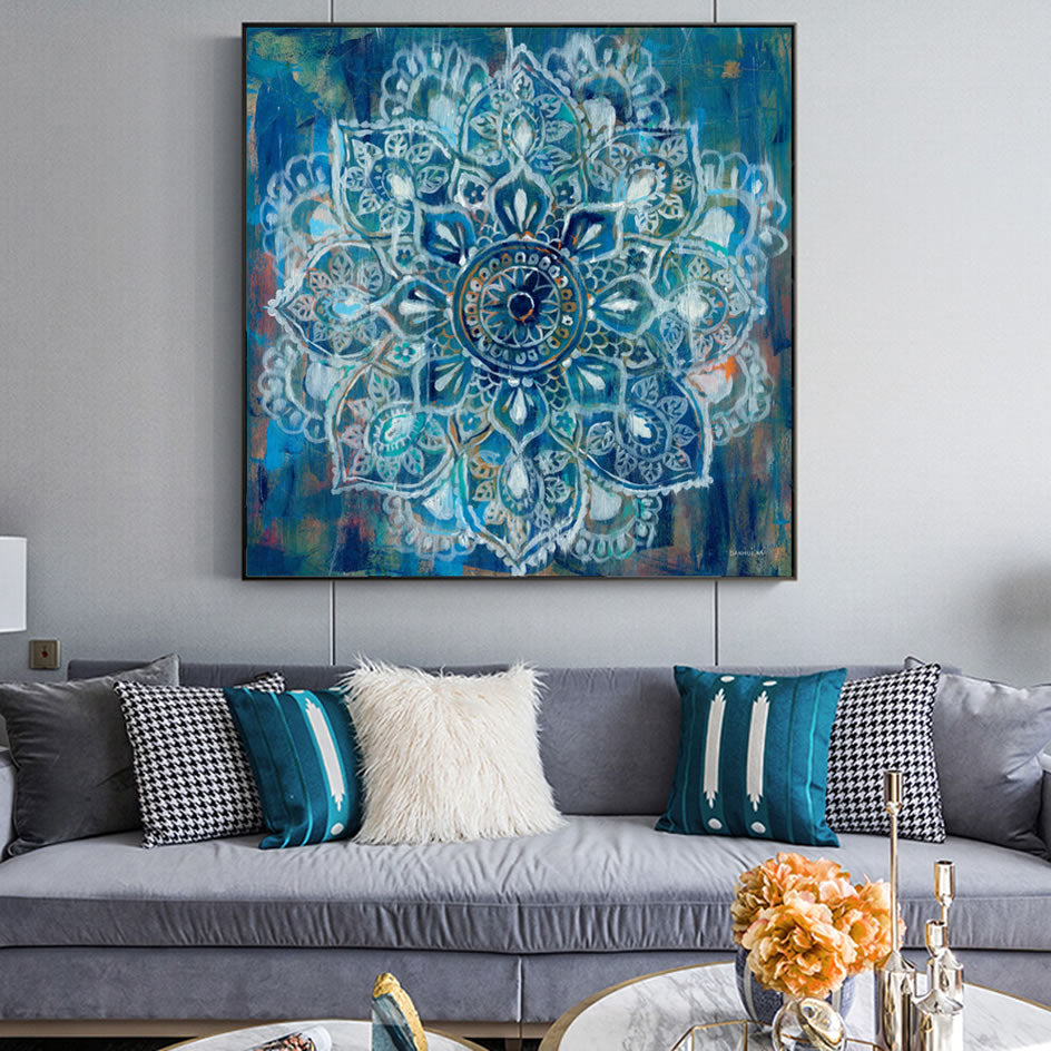 Mandala Lily Wall Art Canvas | The Brand Decò
