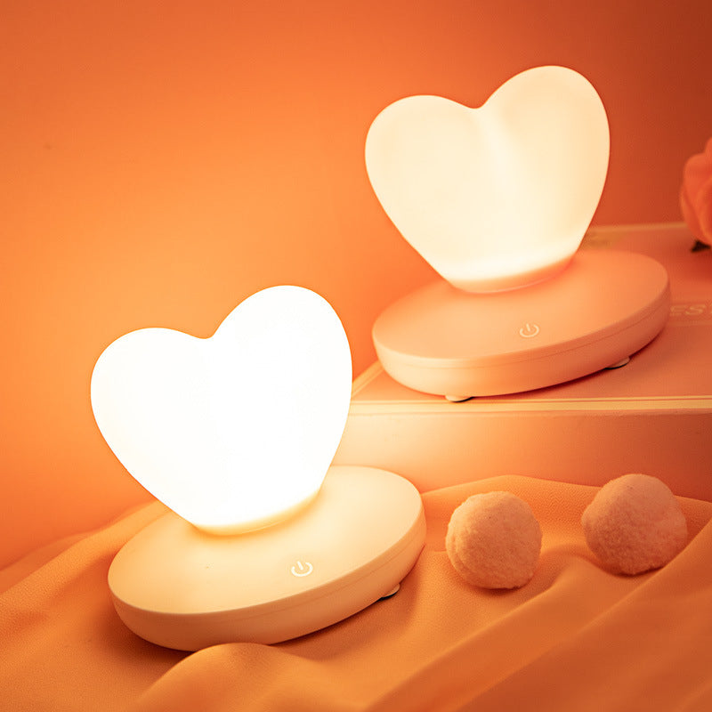 Mini Heart-shaped Night Light Silicone Touch Sensor | The Brand Decò