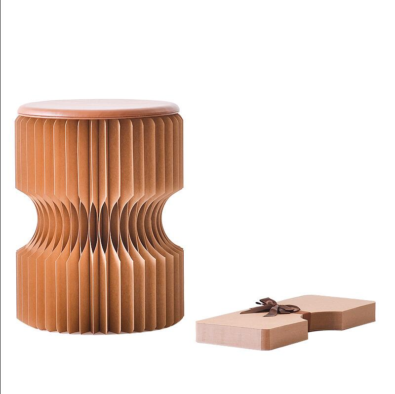 Folding Kraft Paper Stool Paper Seat | The Brand Decò