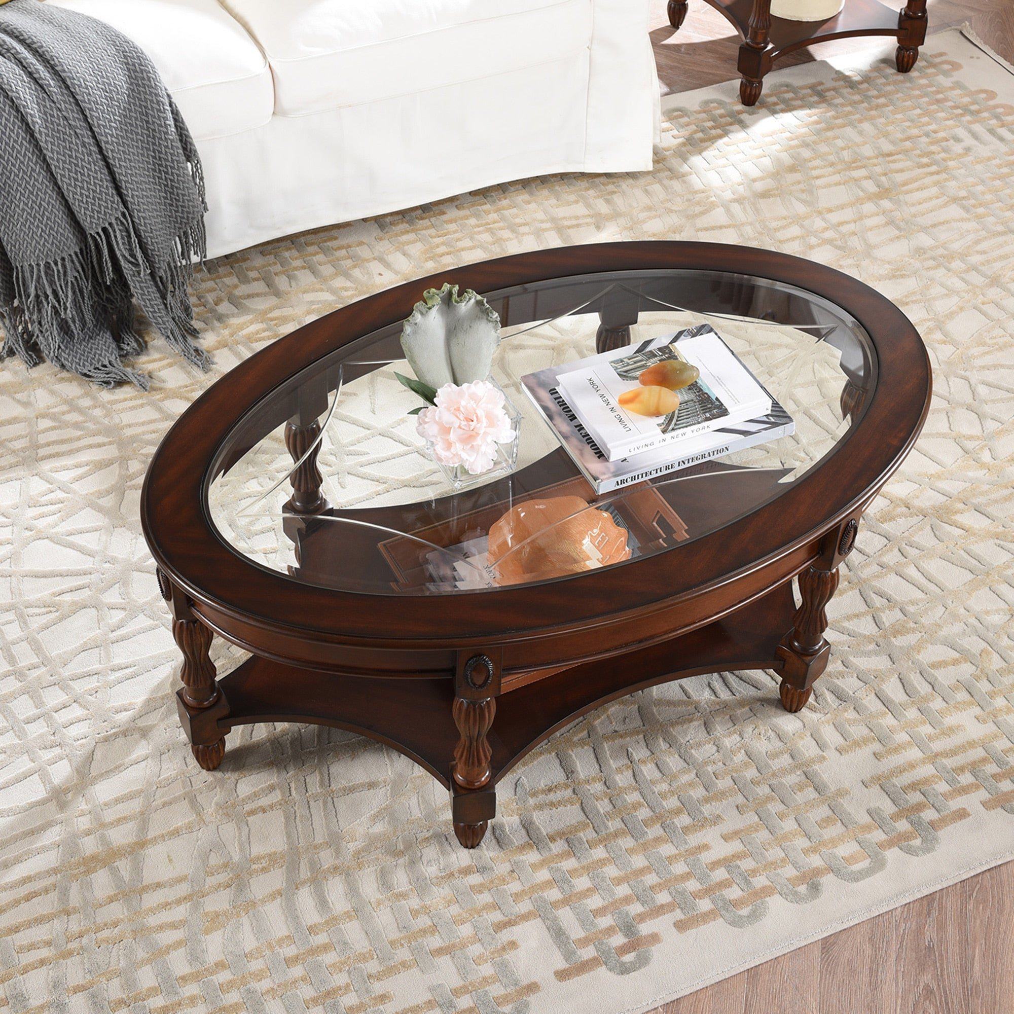 Vintage Style Double-layer Coffee Table for Living Room | The Brand Decò