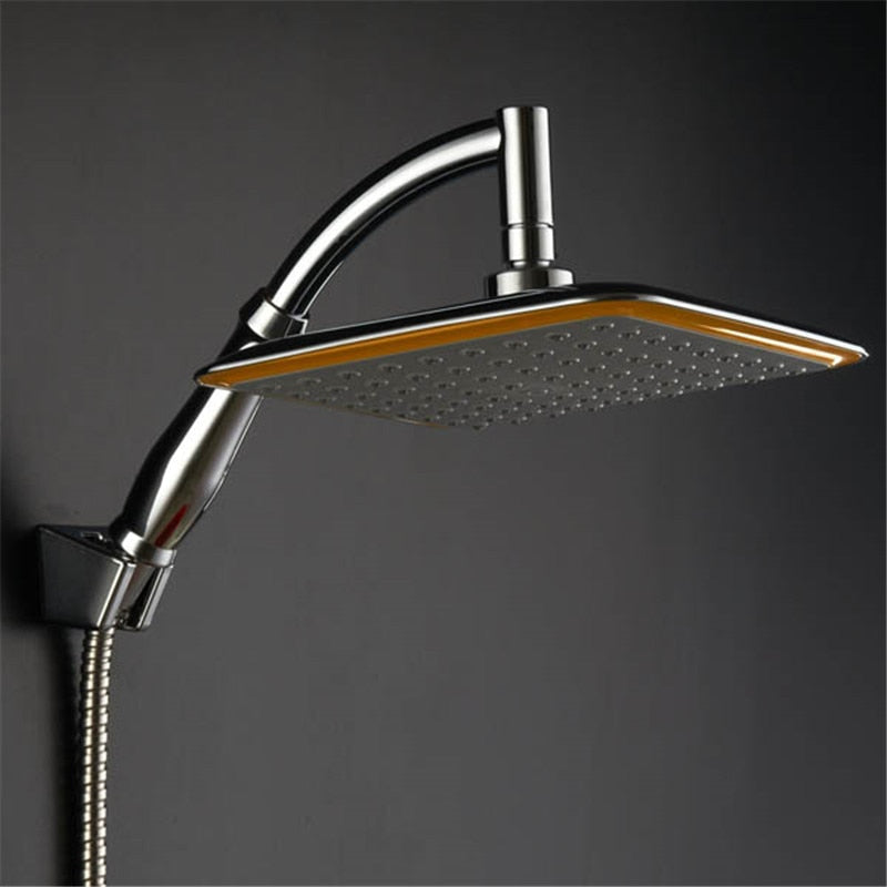 Modena: Square Thin Rotatable Top Rain Shower Head Wall Mounted Extension | The Brand Decò