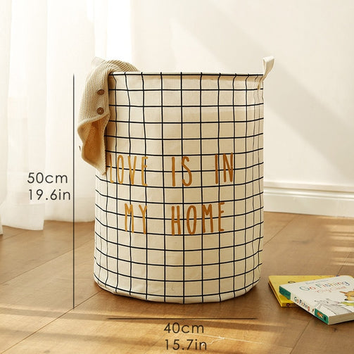 Tyvek laundry basket canvas Toy Storage Box Splice flexible