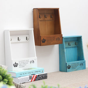 Retro Wall Mounted Wooden Box Organizer | The Brand Decò