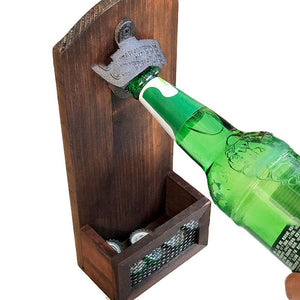 Wooden Vintage Bottle Opener Wall-mounted Beer Wall Opener Bottle Opener | The Brand Decò