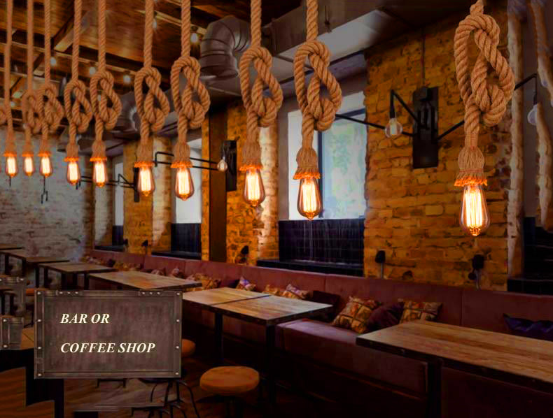 Rope Chandelier Lighting Pendant Lamp | The Brand Decò | The Brand Decò